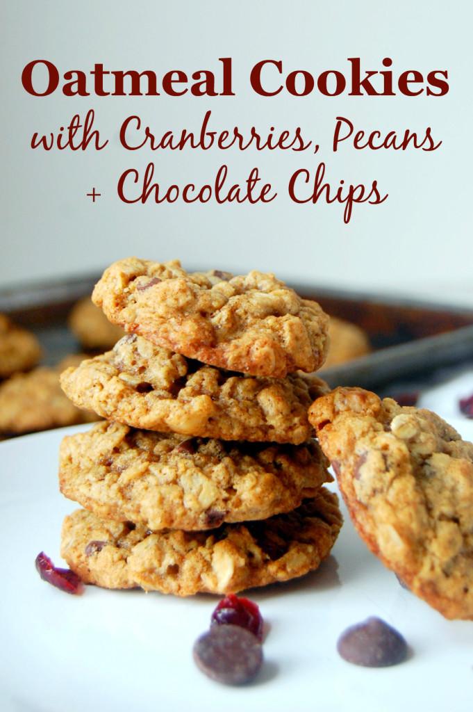 Oatmeal Cranberry Pecan Cookies