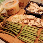 Shrimp, Mushroom and Asparagus Pasta