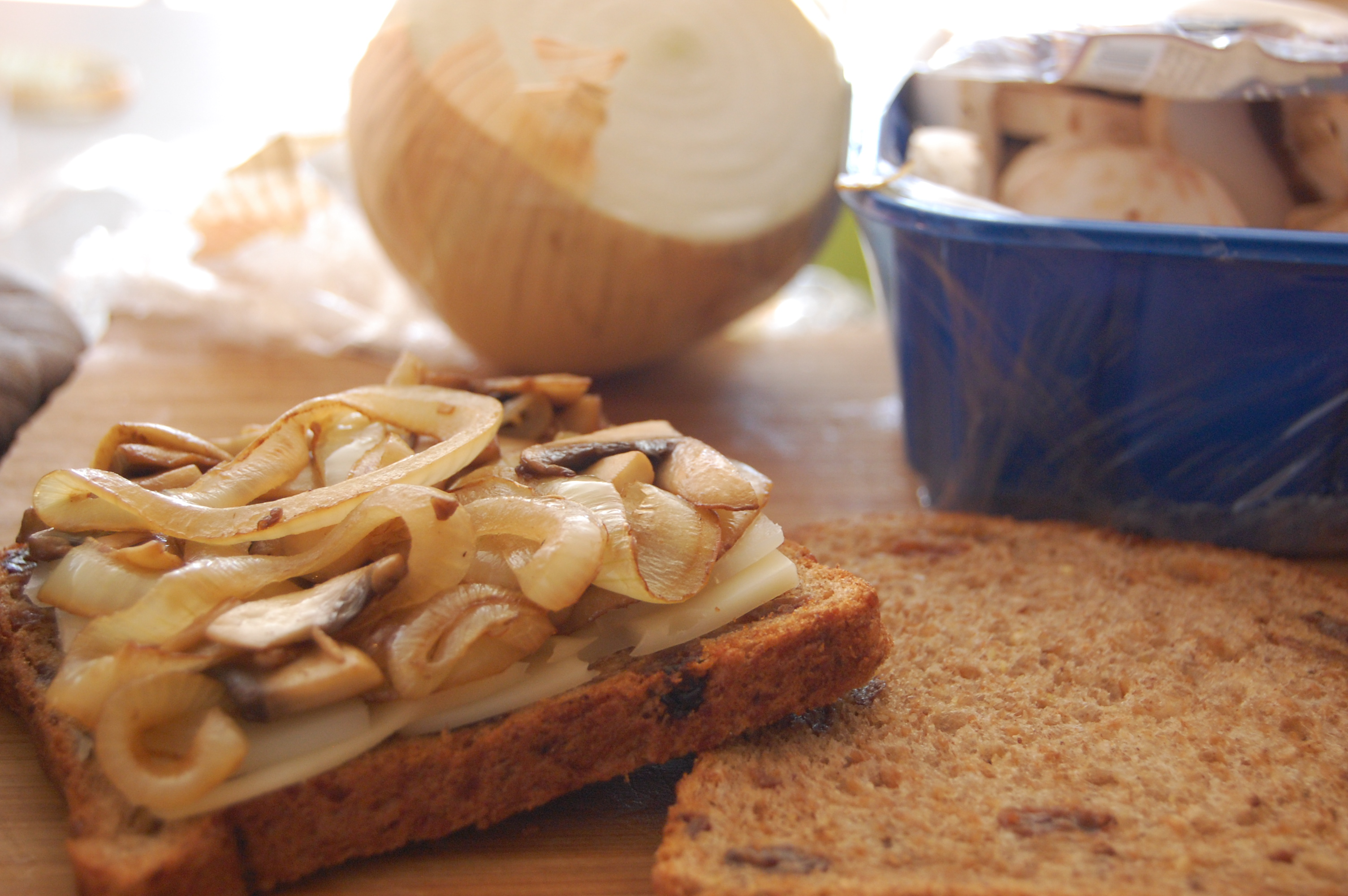 Caramelized Onion & Mushroom Grilled Cheese | Uproot Kitchen