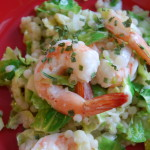 Shrimp with Couscous and Brussel Sprouts