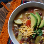 Summer Vegetable Chicken Tortilla Soup