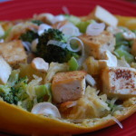 Spaghetti Squash Stir-Fry with Tofu