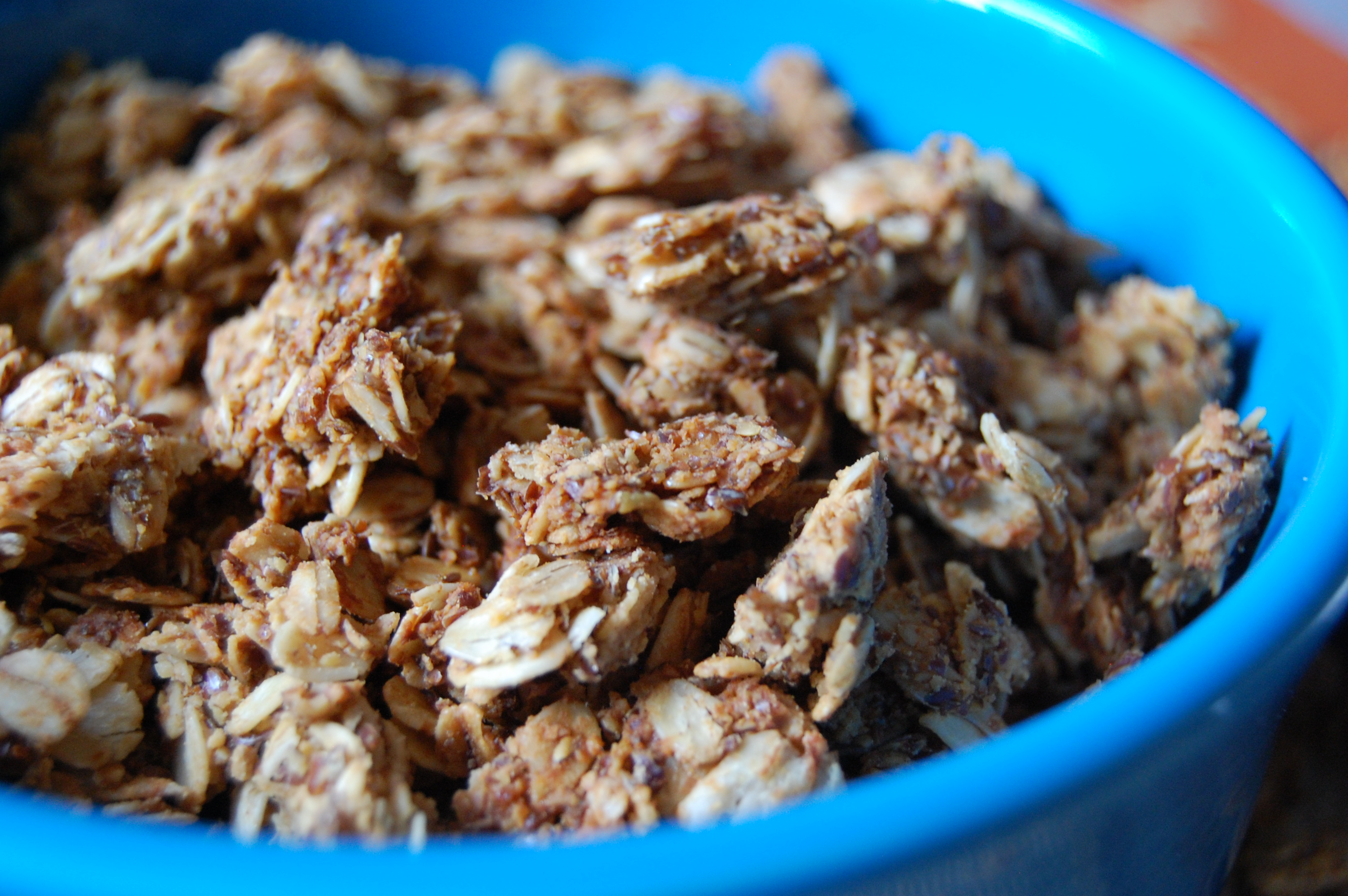 Honey Peanut Butter Granola (makes 2 cups)