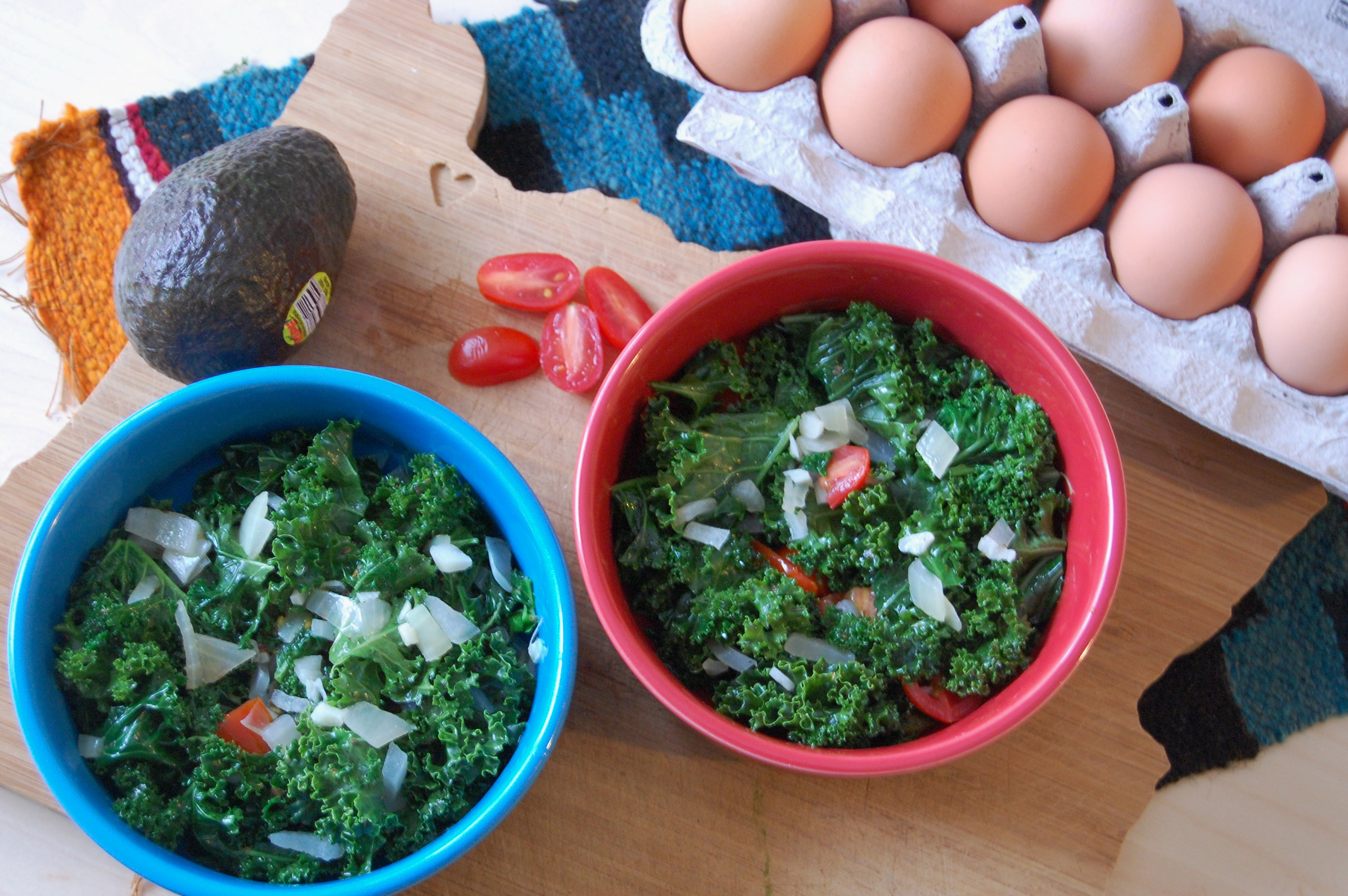 Breakfast Kale Baked Eggs