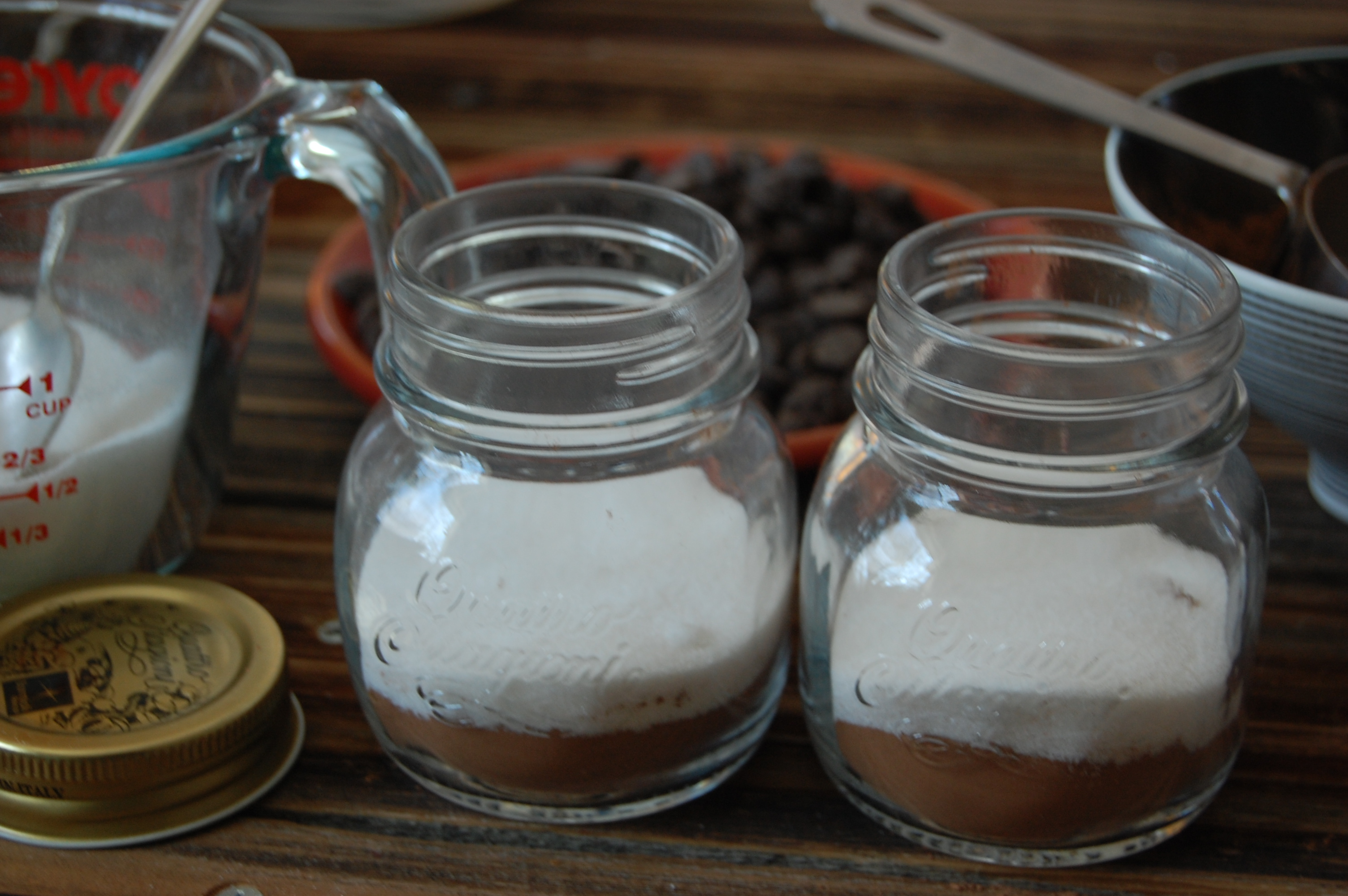 Layering DIY Hot Cocoa Mix