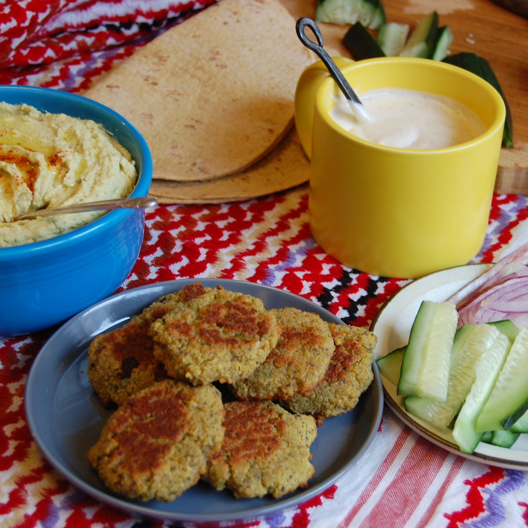 ... baked quinoa patties baked falafel patties with yogurt tahini sauce