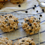 Wild Blueberry Oat Scones with Lime Glaze