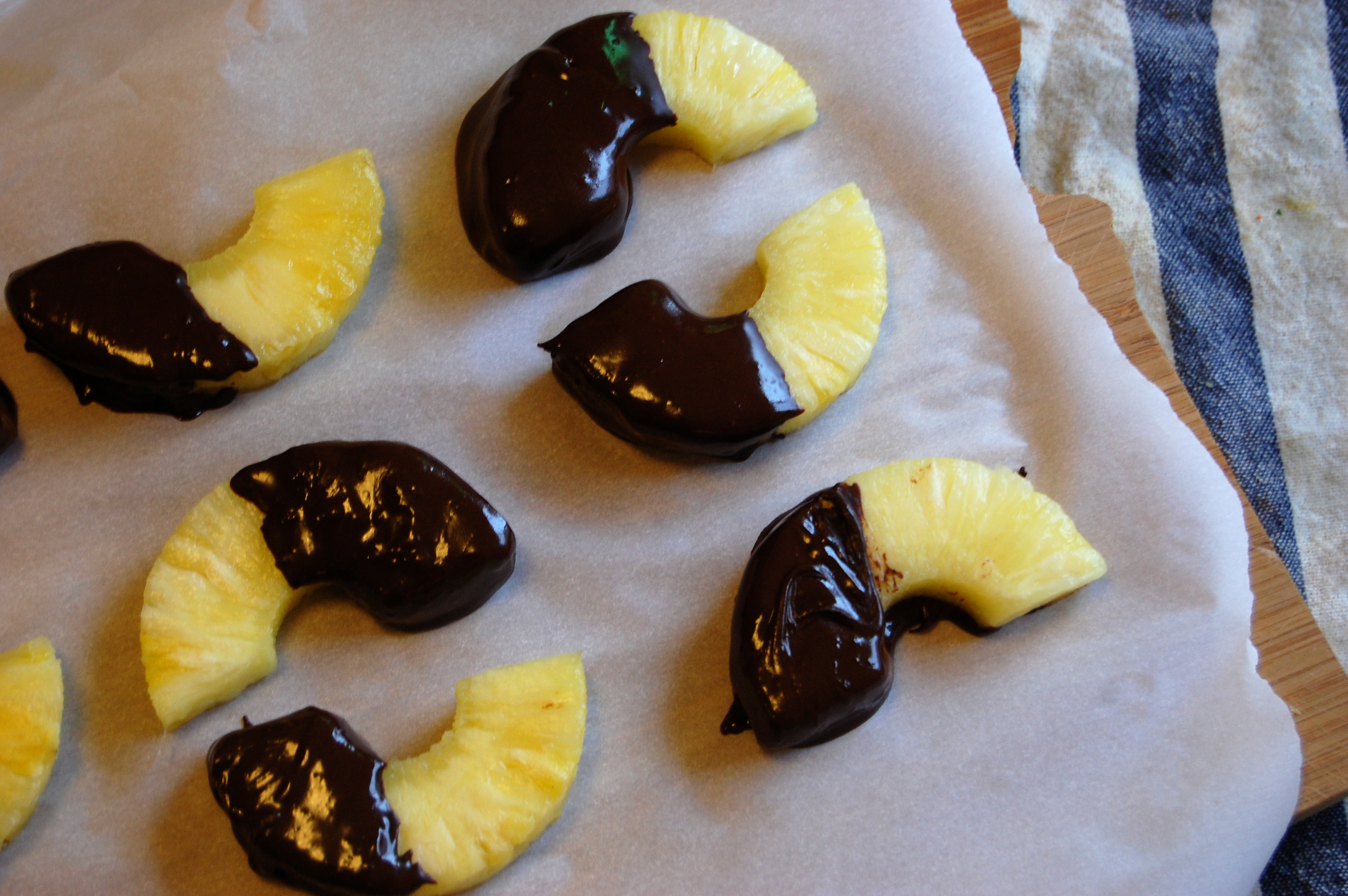 Pistachios With Toasted Coconut Chips Chocolate Dipped Pineapple Uproot Kitchen