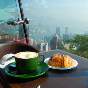 Coffee Date at the top of Victoria Peak (Hong Kong)