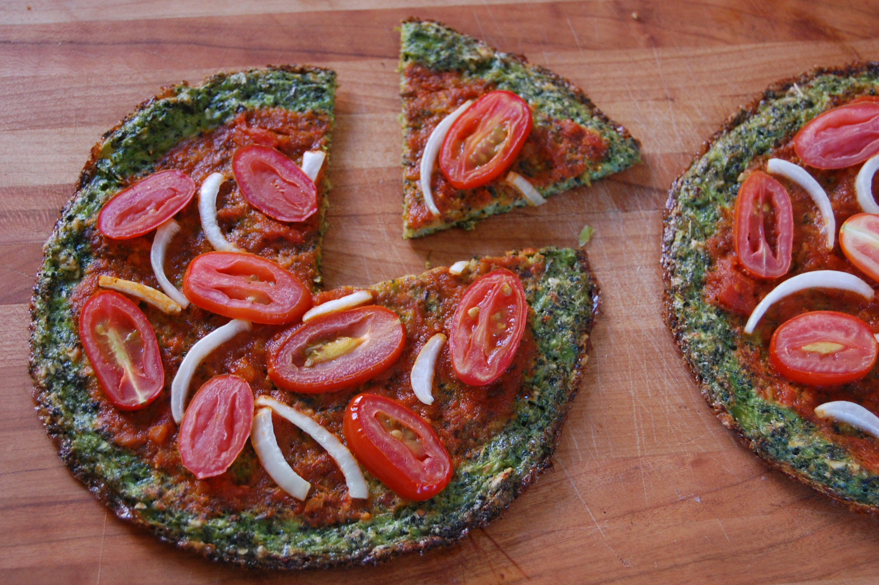 Broccoli Pizza Crust | uprootkitchen.com