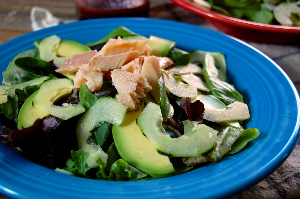 Smoked Trout Salad with Avocado and Cucumber