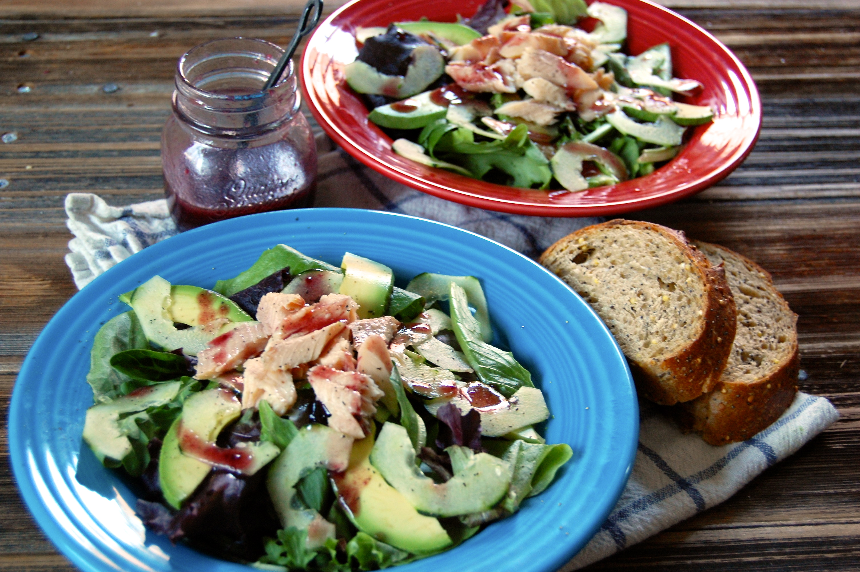 Smoked Trout Salad with Blackberry Vinaigrette