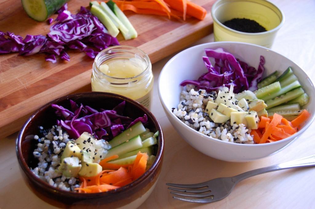 Veggie Sushi Bowls | Uproot Kitchen