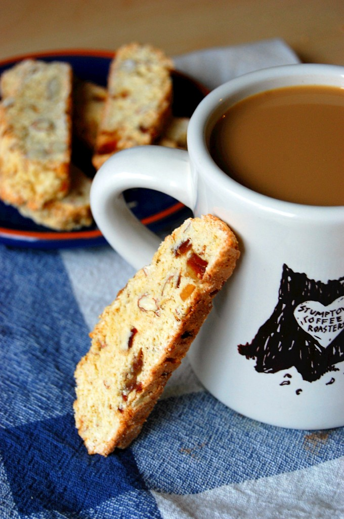 8 Ingredient Almond and Date Biscotti