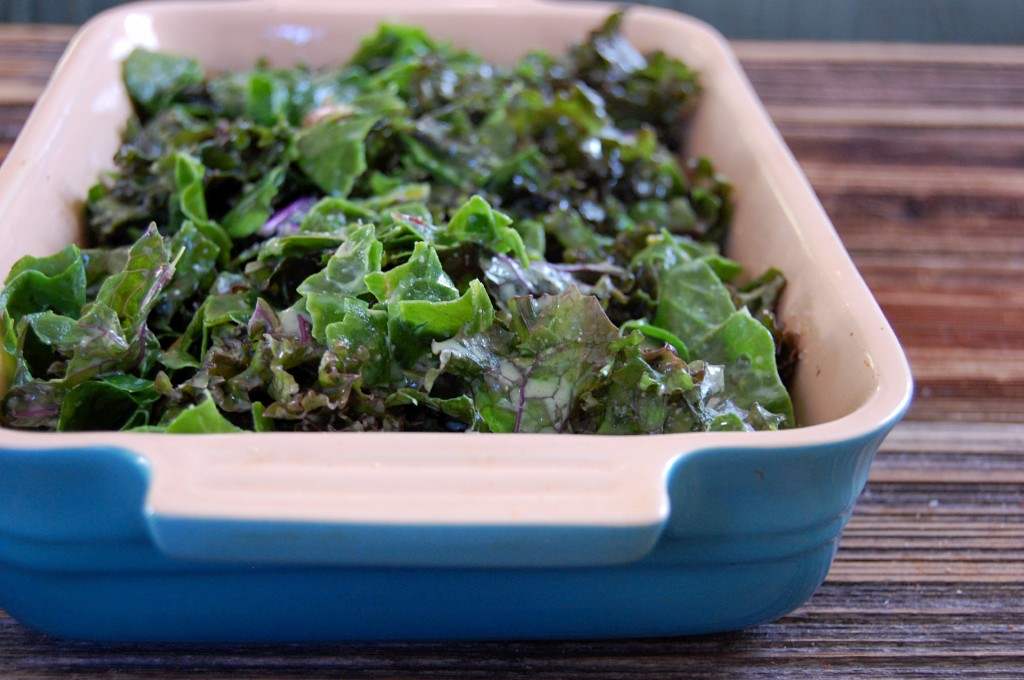 Kale and Swiss Chard Gratin