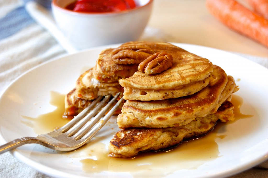 Shredded Carrot Cake Pancakes
