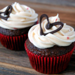 How To: Small Batch Cream Cheese Frosting + Chocolate Cupcake Decorations