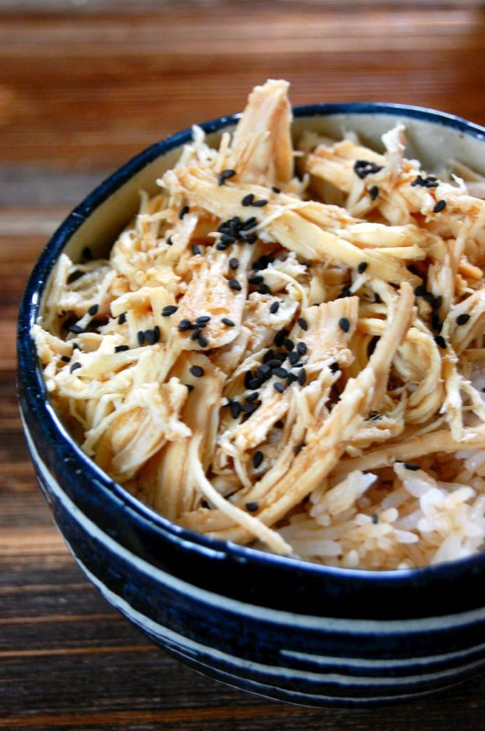 Asian Crockpot Shredded Chicken