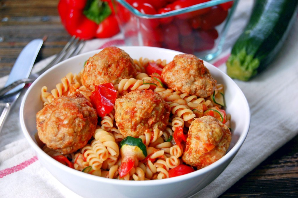 Baked Turkey Meatballs- an tasty recipe to keep in the freezer for quick meals