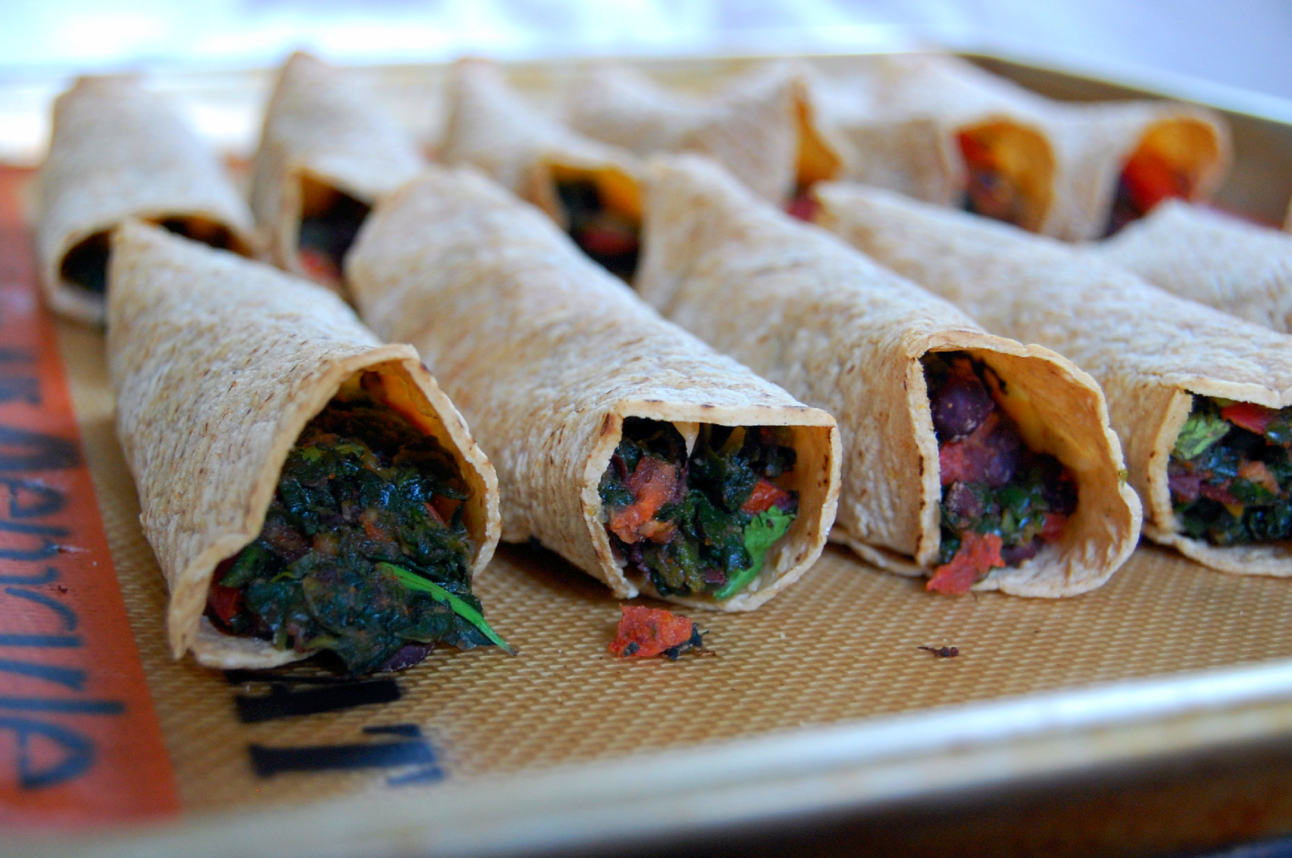 Black Bean, Green Chile And Sharp Cheddar Baked Flautas Recipes ...