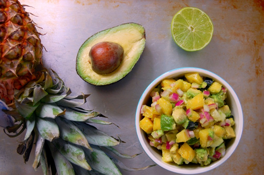 Pineapple Avocado Salsa for Chicken, Fish, Tacos, etc