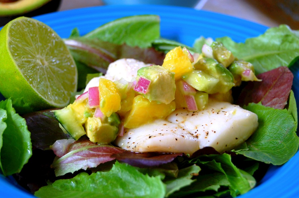 Pineapple Avocado Salsa for Fish - full of zesty flavor!