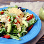Guacamole Greens Salad with Cilantro Lime Vinaigrette