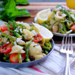 Lemon Asparagus Pasta with Feta & Mint