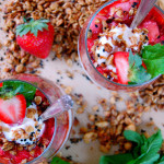 Strawberry Mint Yogurt Parfaits