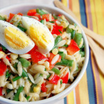 Summer Vegetable Orzo Salad with a Lemon Garlic Dressing