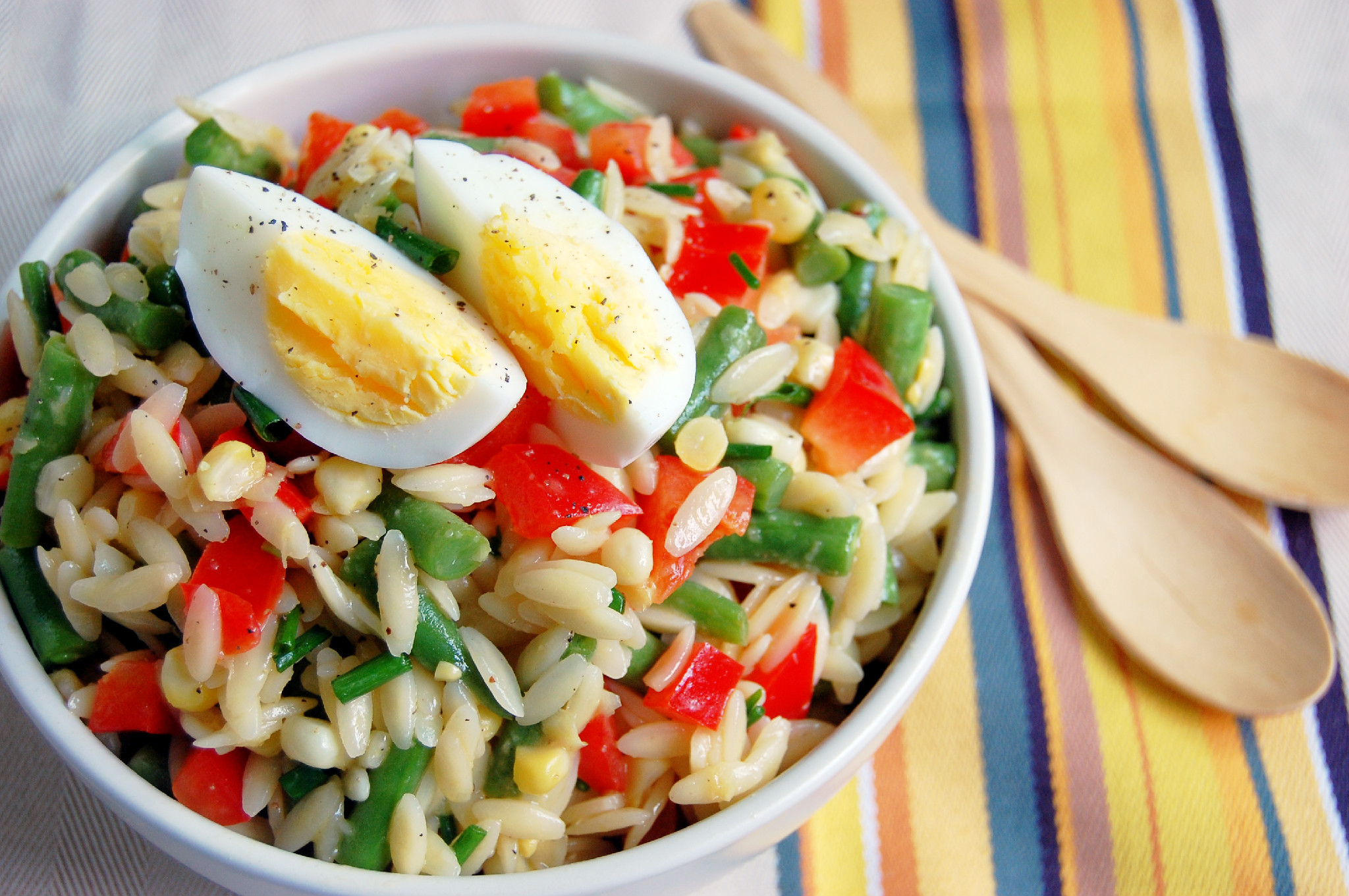 Summer Vegetable Orzo Salad with a Lemon Garlic Dressing |