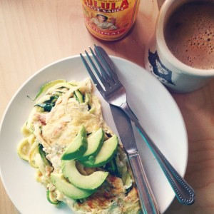 Zucchini Noodle Omelette