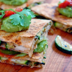 Zucchini Quesadillas with Spanish Cheese