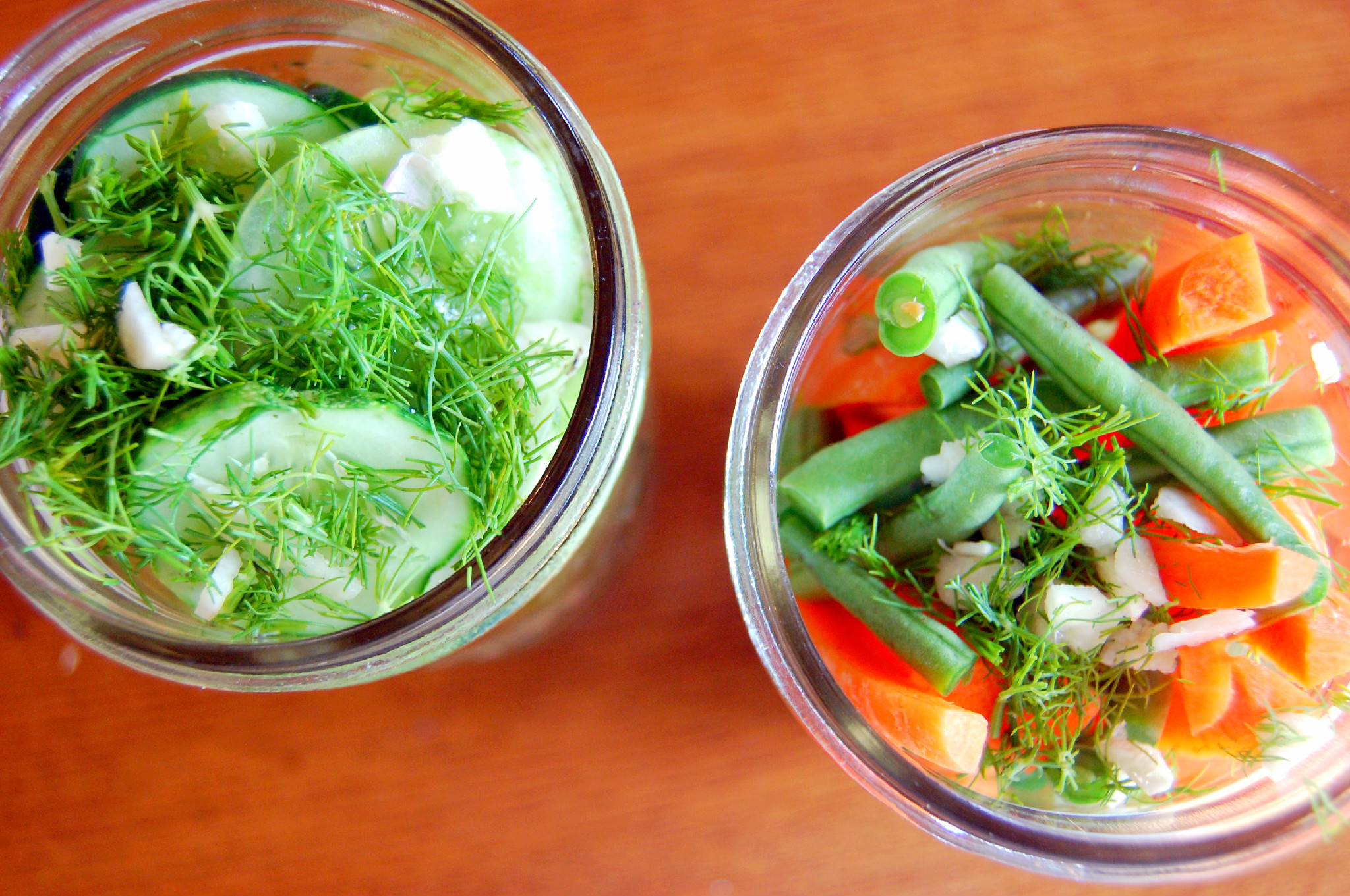 Easy Refrigerator Dill Pickles and Pickled Vegetables