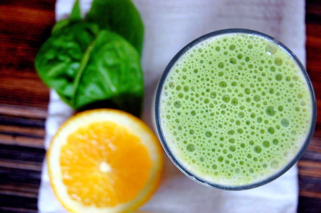 Green Julius Smoothie - a healthy take on the frothy and sweet orange Julius!