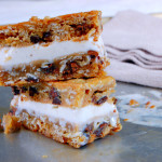 Oatmeal Cookie Slab Ice Cream Sandwiches