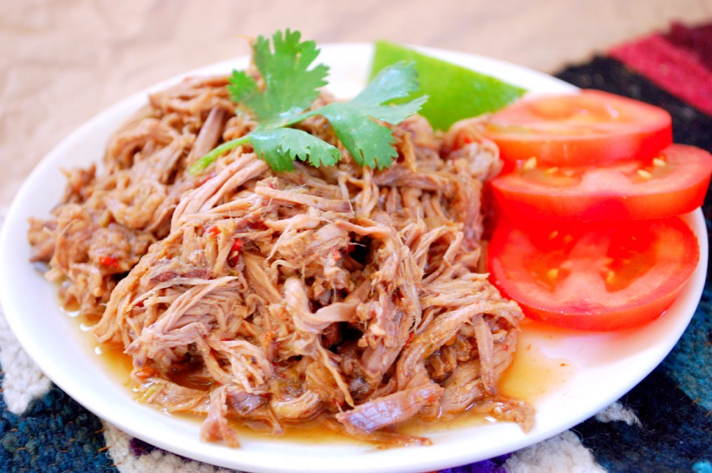 Set It + Forget It- Easy Slow Cooker Mexican Barbacoa, similar to Chipotle's shredded beef