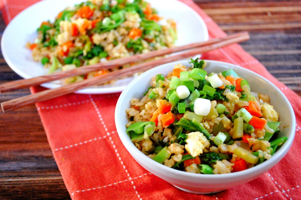 Veggie Packed Fried Rice- an easy and healthy alternative to take-out