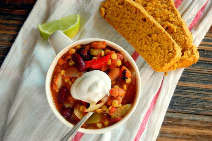 Slow Cooker Hearty Lentil Chili
