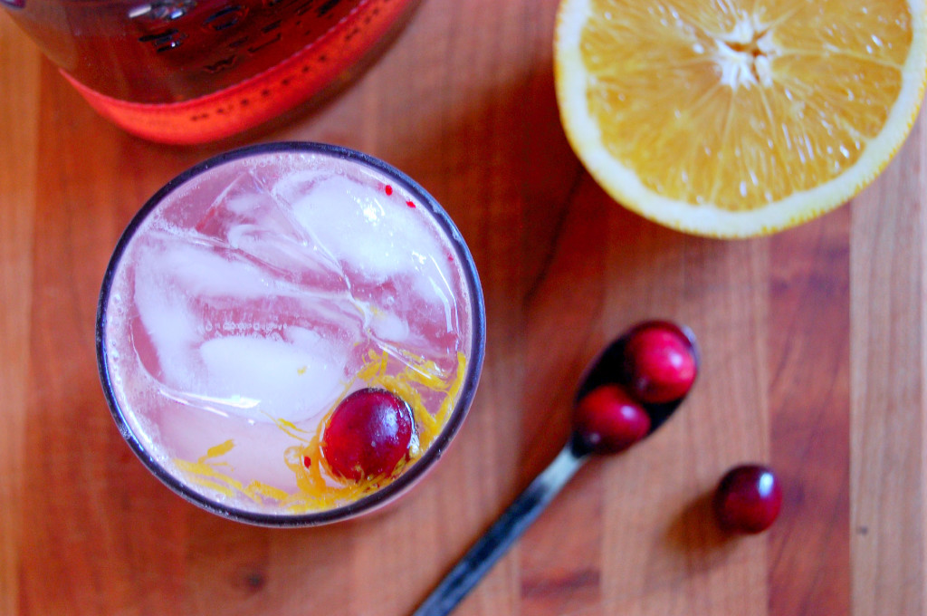 Cranberry Bourbon Cocktail - perfect for holiday get-togethers | Uproot from Oregon