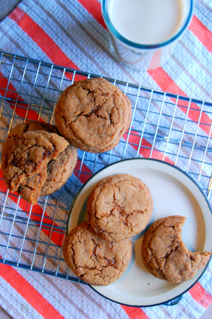 Chewy Spiced Molasses Cookies with warming spices and low sugar | Uproot from Oregon