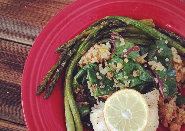 Roasted Lemon Chicken and Asparagus