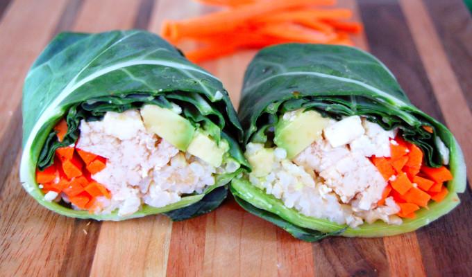 Collard Green Sushi Wraps
