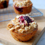 Greek Yogurt Marion Blackberry Muffins with Honey Oat Streusel