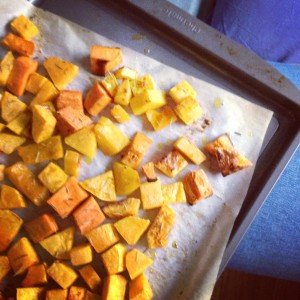 Roasted Squash For Food Prep