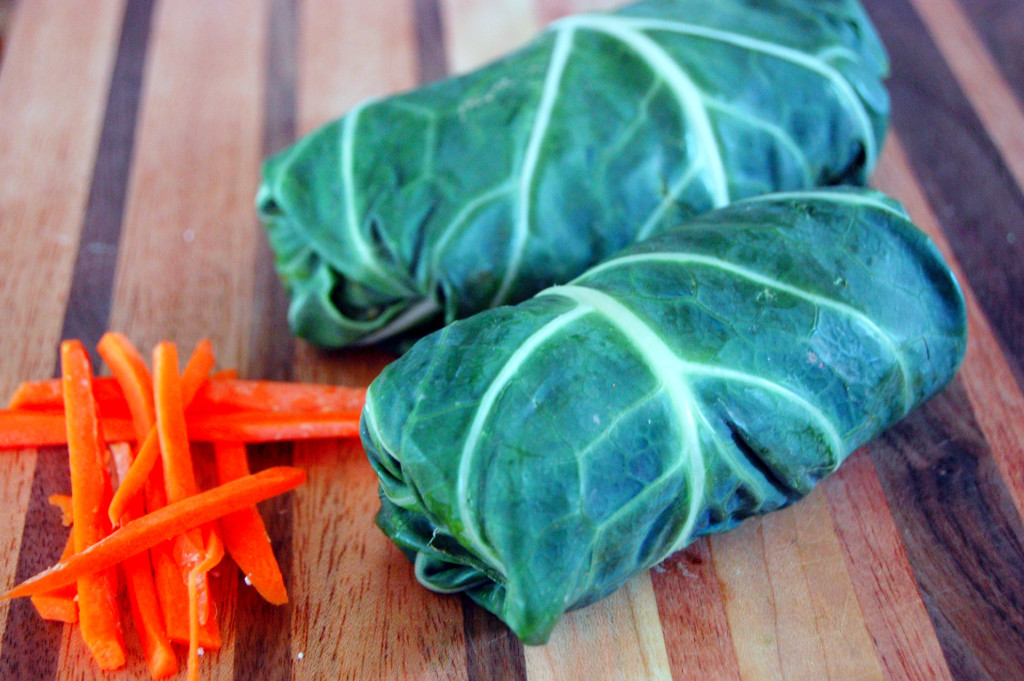 Simple Collard Green Snack Wraps | Uproot from Oregon