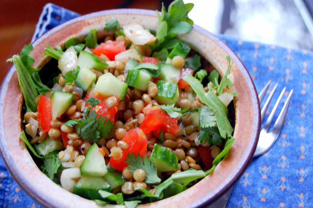 Simple Warm Lentil Salad | Uproot from Oregon
