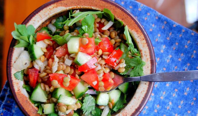 Simple Warm Lentil Salad
