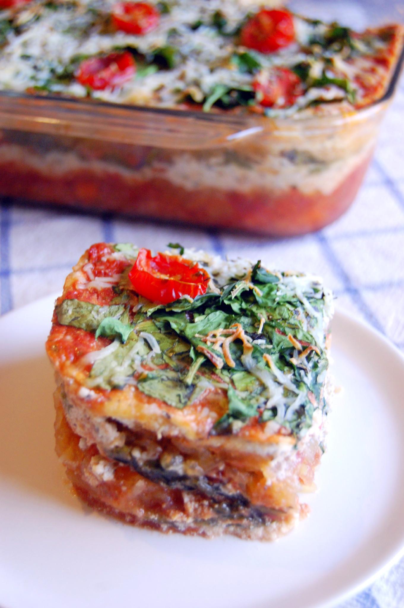 Vegetarian Spaghetti Squash Lasagna Casserole | Uproot Kitchen