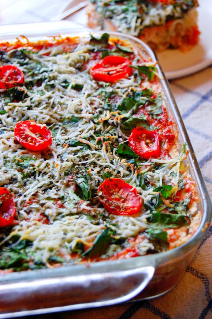 Vegetarian Spaghetti Squash Lasagna Casserole | Uproot from Oregon #glutenfree